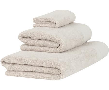 Lot de serviettes de bain avec bordure classique Premium, 3élém.