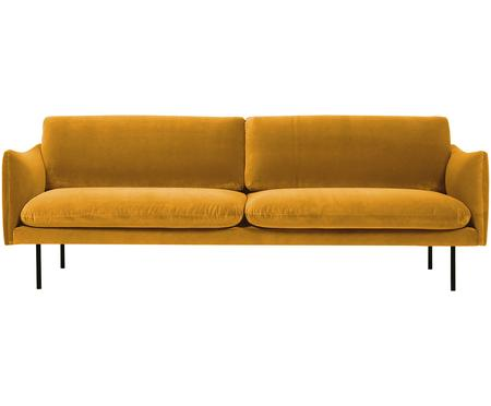 Canapé 3places velours jaune moutarde Moby
