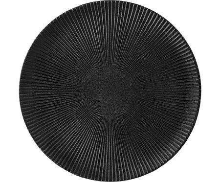 Assiette plate noire design Neri