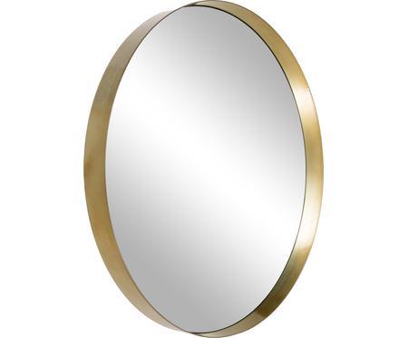 Miroir mural rond métal doré Metal