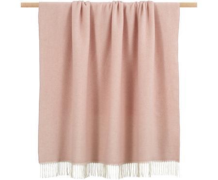 Plaid en laine rose à imprimé zigzag Aubrey