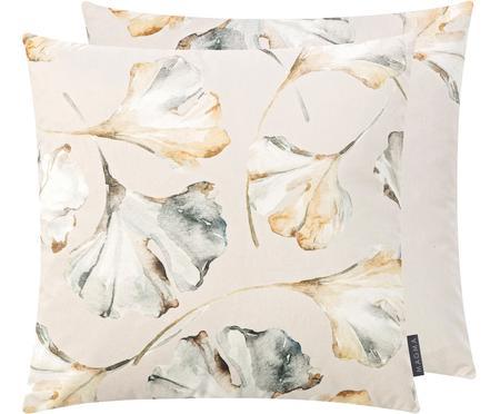 Housse de coussin 50x50 velours réversible Flores