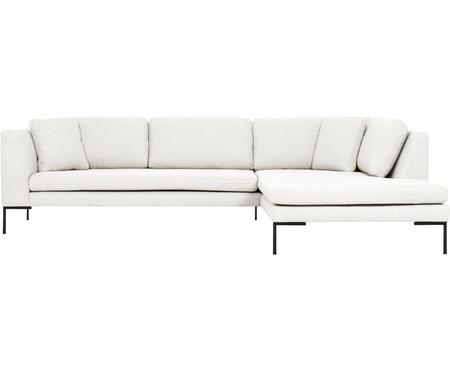 Canapé d'angle blanc crème Emma