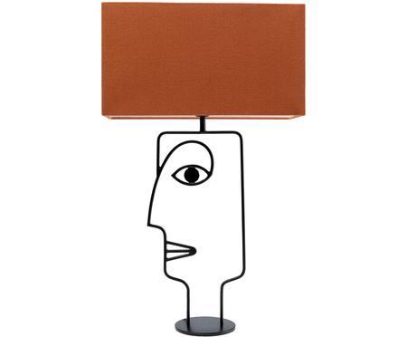 Grand lampe à poser design Face Orange