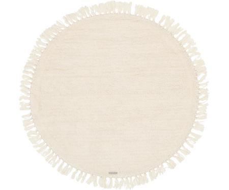 Tapis pure laine rond crème Alma