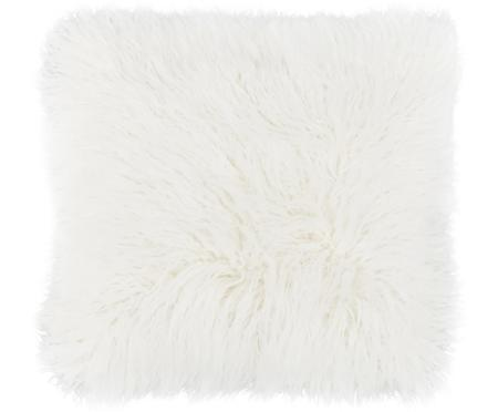 Housse de coussin 40x40 blanc imitation fourrure frisée Morten