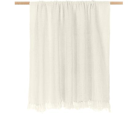 Plaid coton blanc ivoireWaffle