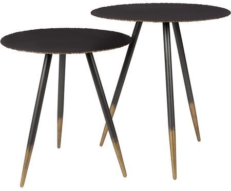 Table d'appoint noir et en doré Stalwart, 2élém.