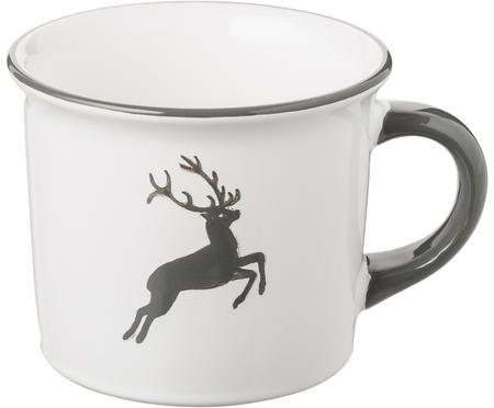 Mug à café en céramique artisanale Cerf Gris Classic