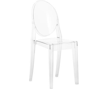 Chaise transparente en plastique Victoria Ghost