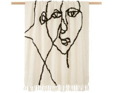 Plaid coton imprimé abstrait Face