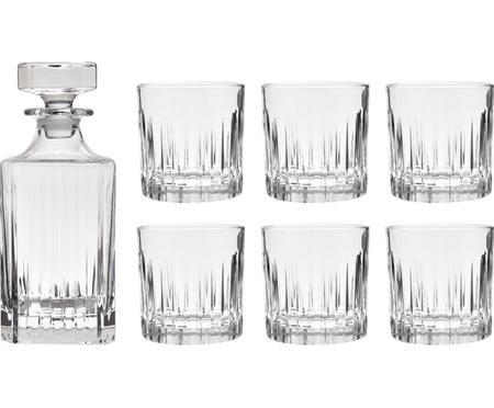 Carafe et verres à whiskey en cristal Timeless, 7élém.