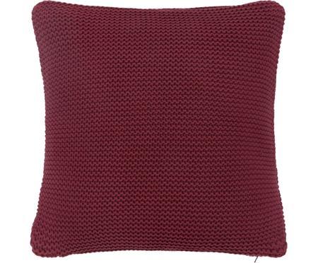 Housse de coussin 40x40 tricot rouge foncé Adalyn