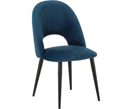 Chaise rembourrée en velours Rachel