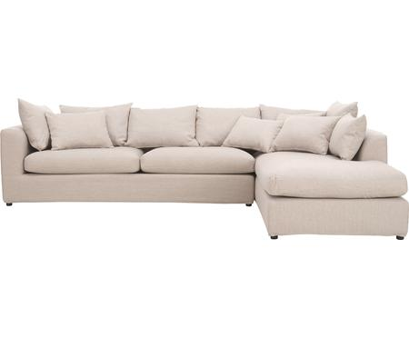 Grand canapé d'angle beige Zach