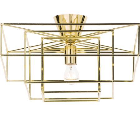 Plafonnier en métal doré Cube