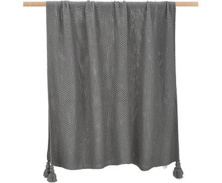 Plaid gris en tricot Lisette
