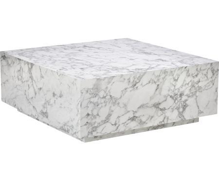 Table basse flottante aspect marbre Lesley