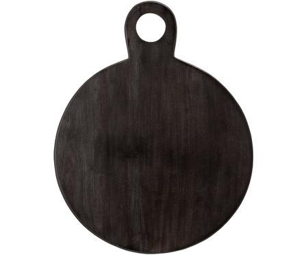 Planche à découper en bois noir Hola, Ø36cm