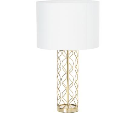 Grande lampe à poser blanc doré Adelaide