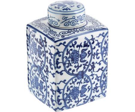 Vase en porcelaine avec couvercle Ella