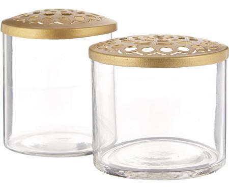 Petit vase transparent Kastanje, 2élém.
