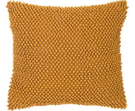 Housse de coussin douce 45x45 jaune Iona