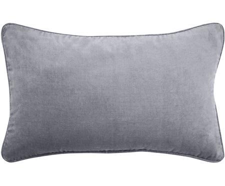 Housse de coussin rectangulaire velours gris Dana