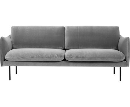 Canapé 2places velours gris Moby