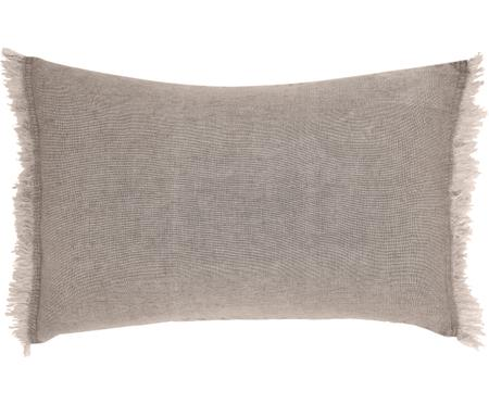 Coussin rectangulaire pur lin beige Levelin