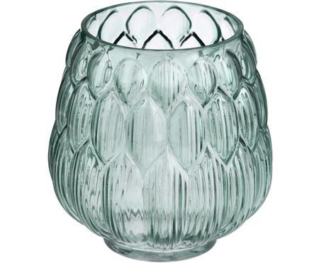 Petit vase en verre bleu pétrole Berry
