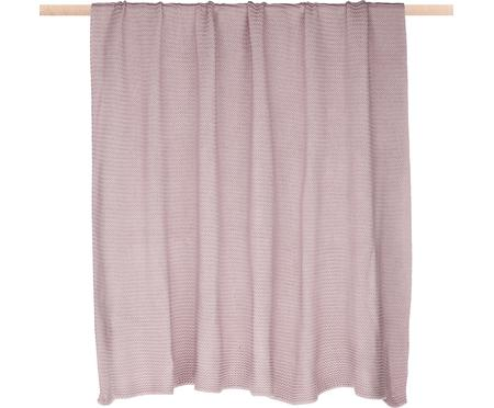 Plaid en tricot rose Adalyn