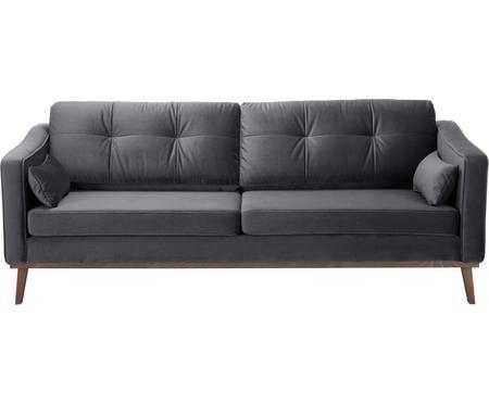 Canapé 3places velours gris foncé Alva