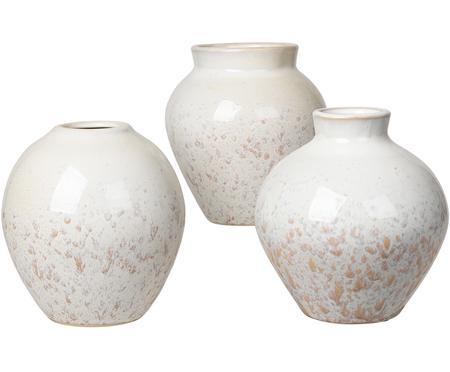 Vase céramique blanc Ingrid, 3élém.