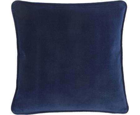 Housse de coussin en velours bleu marine Dana