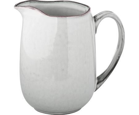 Pichet à lait en grès fait main Nordic Sand, 1l