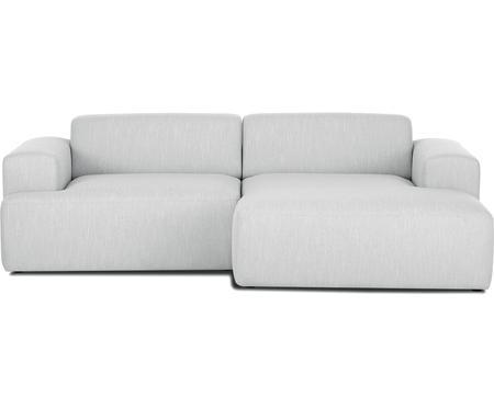 Canapé d'angle 3places gris clair Melva