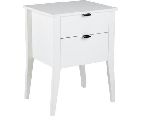 Table de chevet blanche avec 2 tiroirs Sleepy