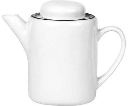 Théière en porcelaine blanche faite main Salt, 1,3l