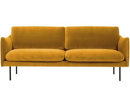 Canapé 2places velours jaune moutarde Moby