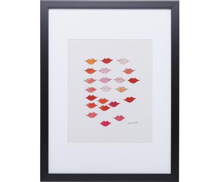 Impression numérique encadrée Kiss «Andy Warhol Collection»