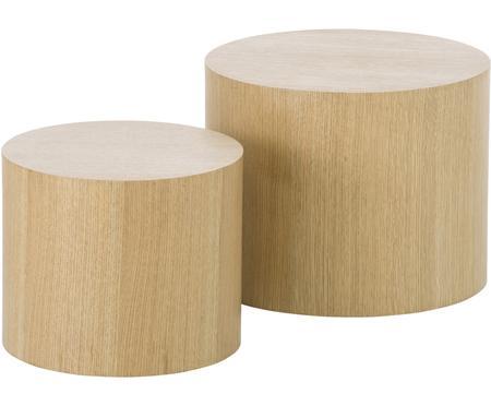 Table d'appoint ronde en bois Dan, 2élém.