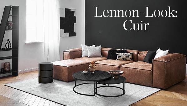 LENNON-LOOK : Cuir