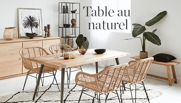 Table au naturel
