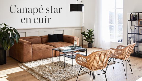 Canapé star en cuir