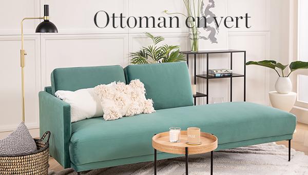 Ottoman en vert